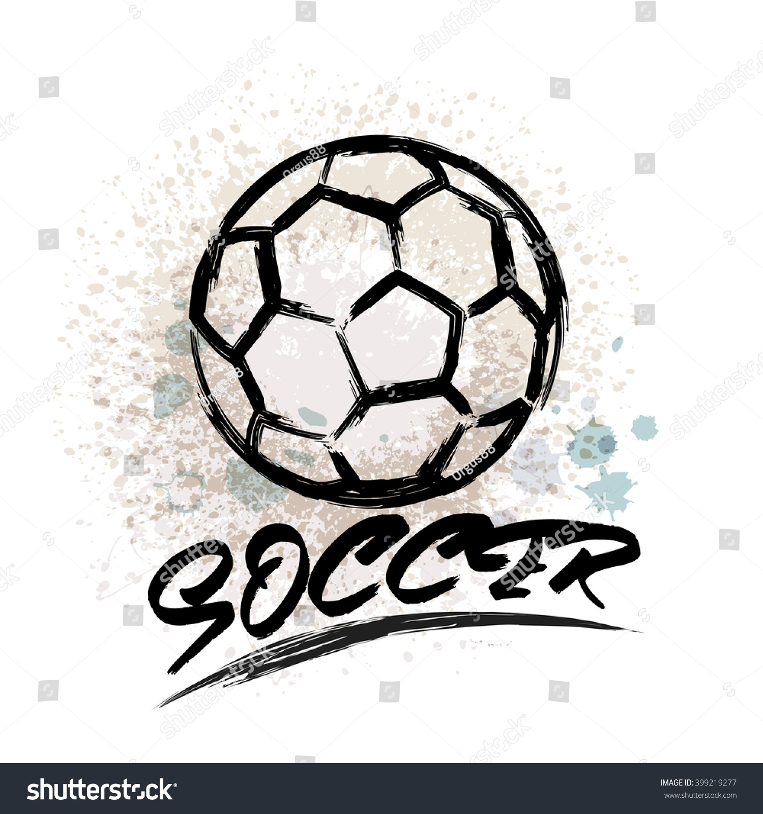 Design t shirt soccer - Vector Grunge Soccer Design T Shirt Poster Banner Backdrops Design