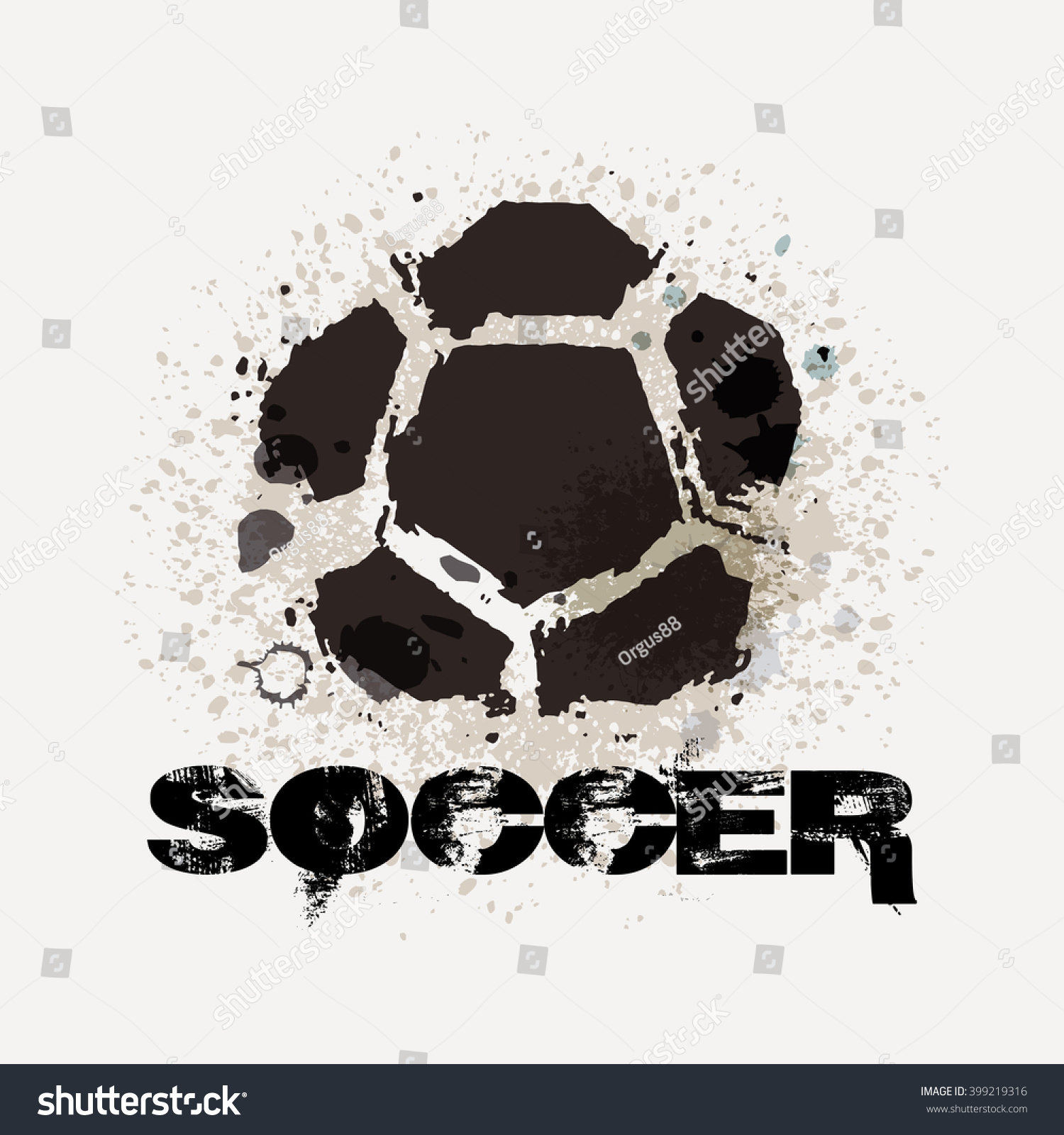 T shirt poster design - Vector Grunge Soccer Design T Shirt Poster Banner Backdrops Design