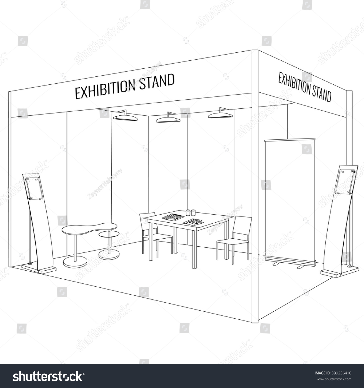 Exhibition Booth Clipart : Vector blank trade exhibition booth stand stock
