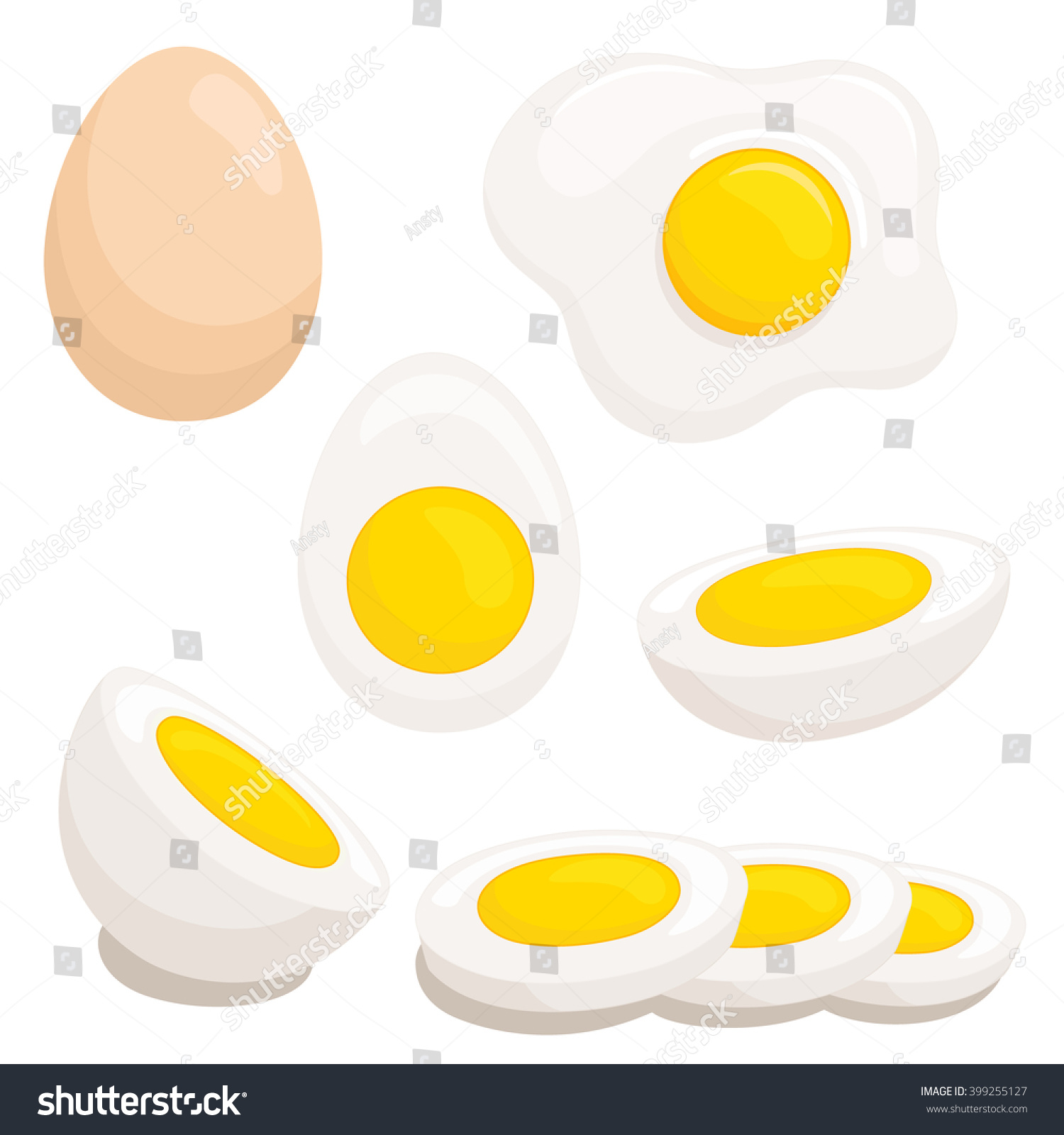 cartoon egg isolated on white background stock vector 399255127