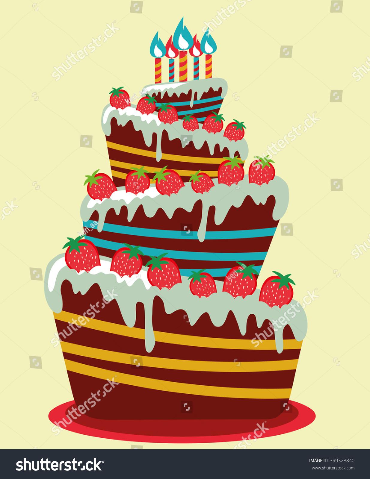 Happy birthday card birthday cake colorful stock vector 399328840 happy birthday card birthday cake colorful birthday vector illustration kristyandbryce Image collections