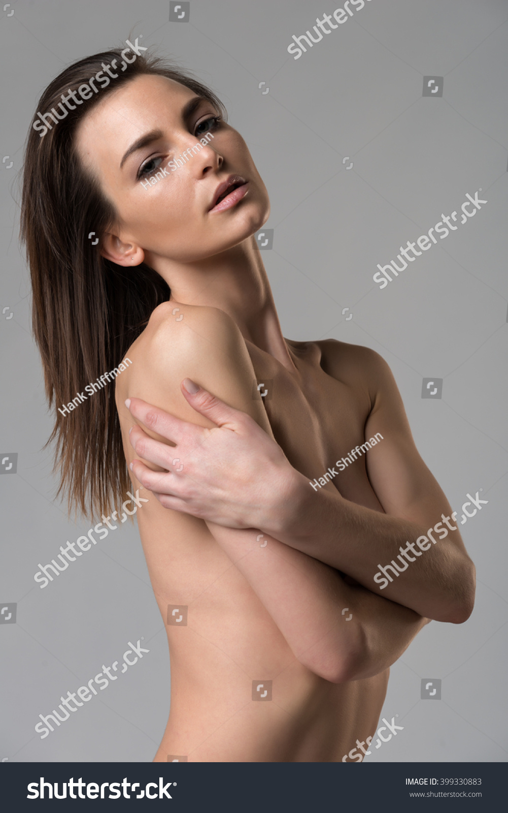 beautiful slender italian woman nude on stock photo & image (royalty