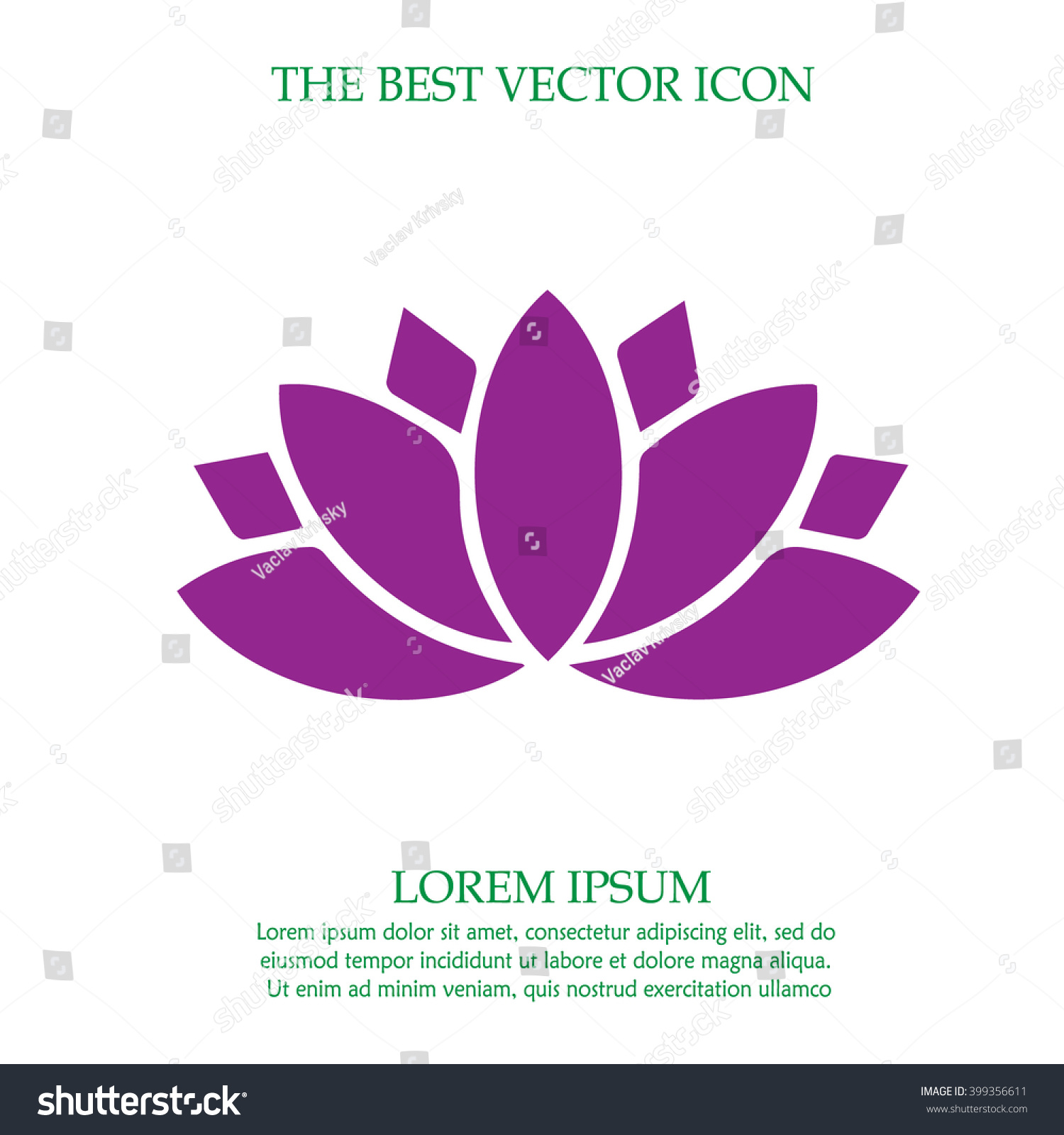 Lotus flower vector icon spiritual simple stock vector hd royalty lotus flower vector icon spiritual simple isolated sign symbol izmirmasajfo