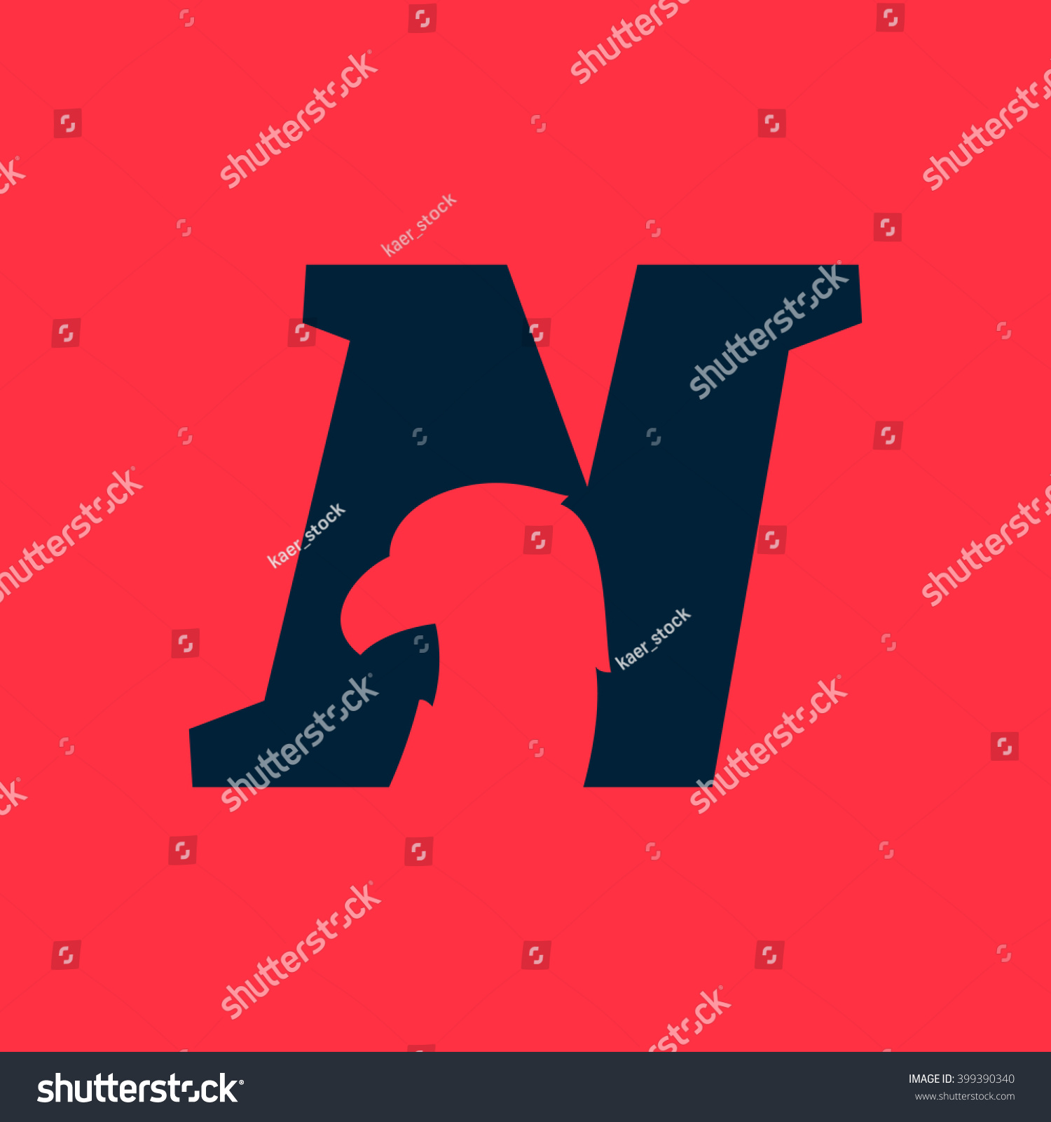 N letter logo eagle negative space stock vector 399390340 n letter logo with eagle negative space font style vector design template elements for thecheapjerseys Gallery