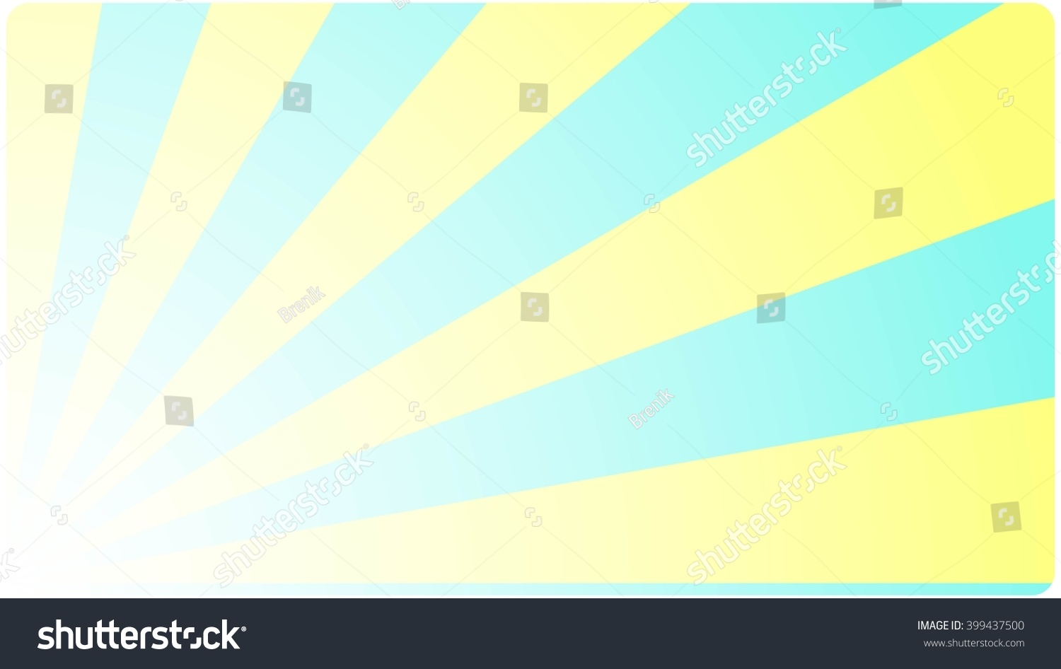 Business Card Visiting Calling Template With Abstract Geometric Design Rays Background