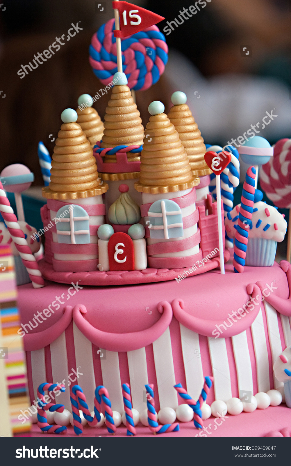 Royalty Free A Fancy Birthday Cake With A Candyland 399459847