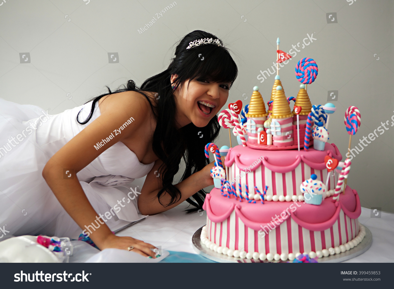 Awesome 15 Year Old Hispanic Girl Celebrates Stock Photo Edit Now 399459853 Funny Birthday Cards Online Fluifree Goldxyz