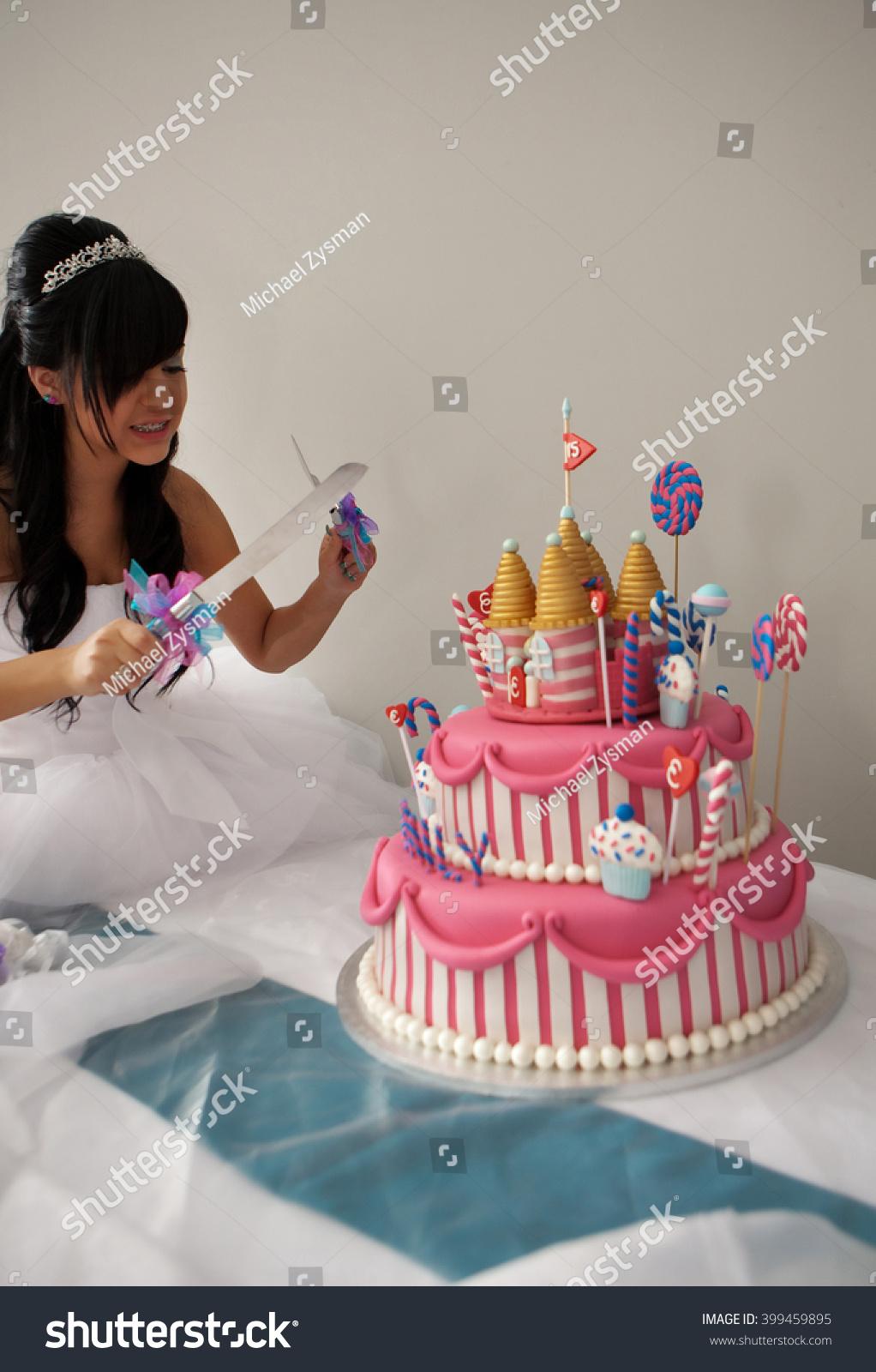 Terrific 15 Year Old Hispanic Girl Celebrates Stock Photo Edit Now 399459895 Funny Birthday Cards Online Fluifree Goldxyz