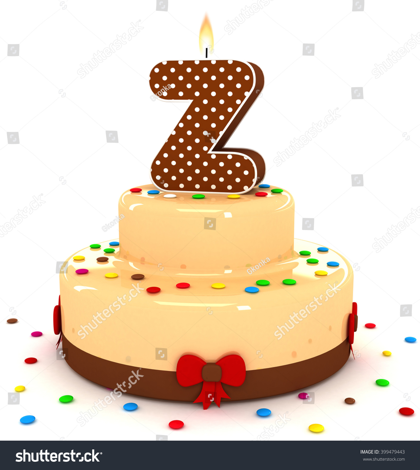 3d cute letter z rendering colorful with chocolate birthday cake alphabet with sweet polka