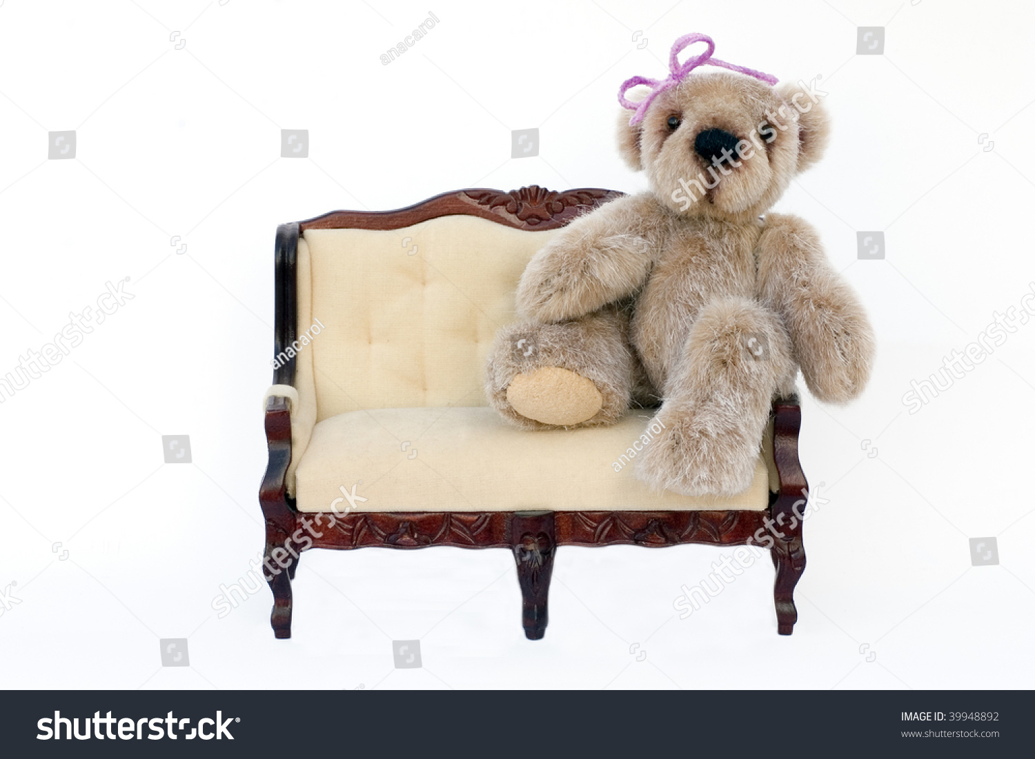 Teddy Bear On Sofa Stock Photo 39948892 Shutterstock