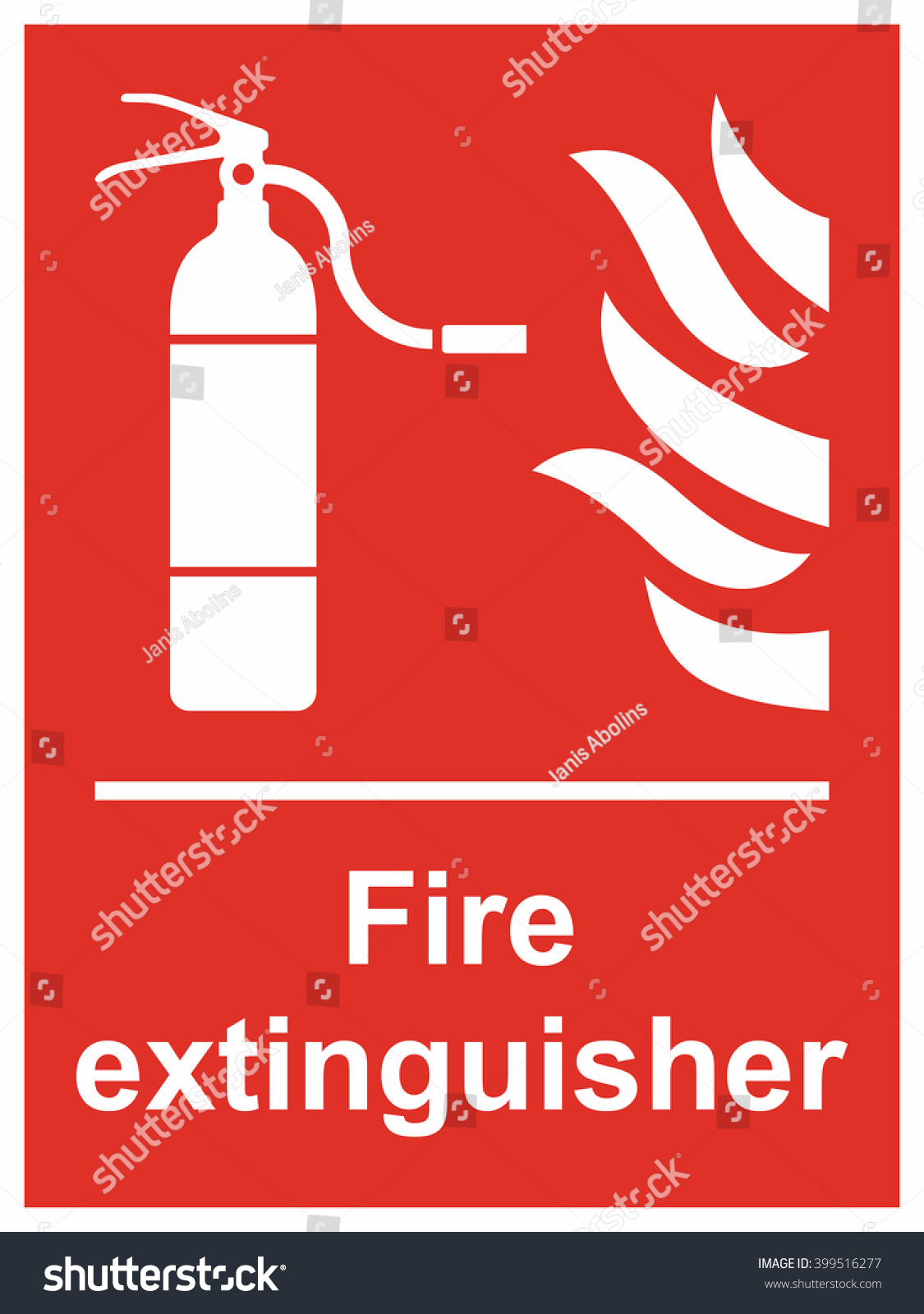 fire extinguisher sign stock vector illustration 399516277