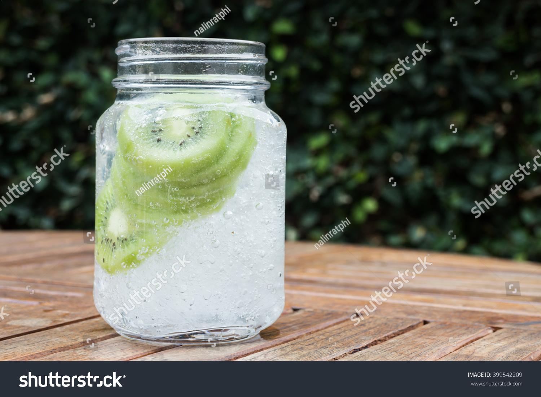 Close-Up Glass Of Iced Kiwi Soda Drink Stock Photo 399542209 ...