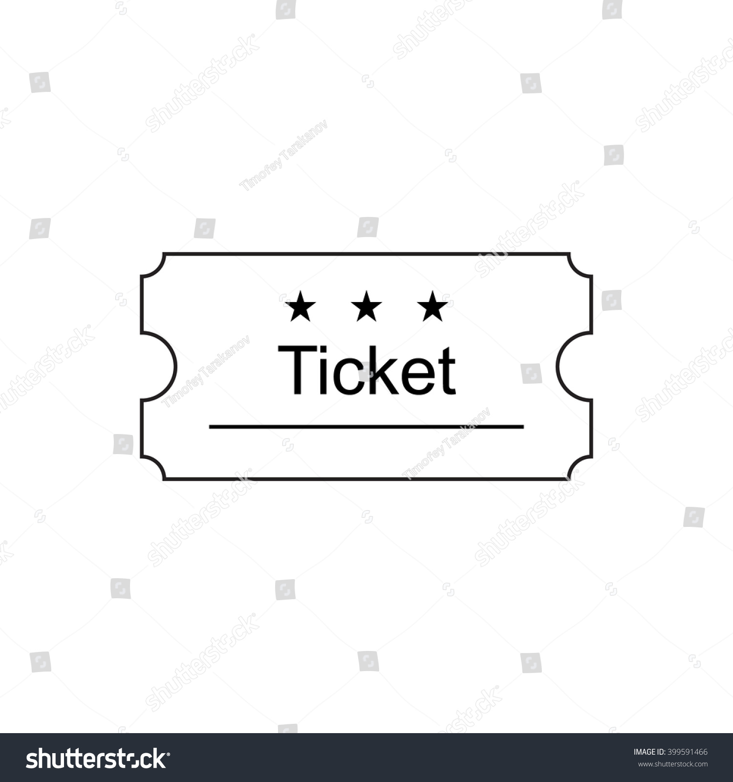 Ticket Icon Outline Style Ticket Vector Vector 399591466 – Ticket Outline
