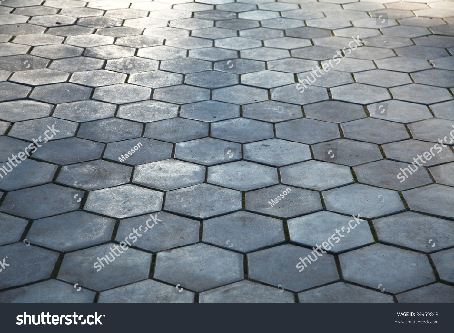 Cobblestone Pavement Paving Stock Photo 39959848