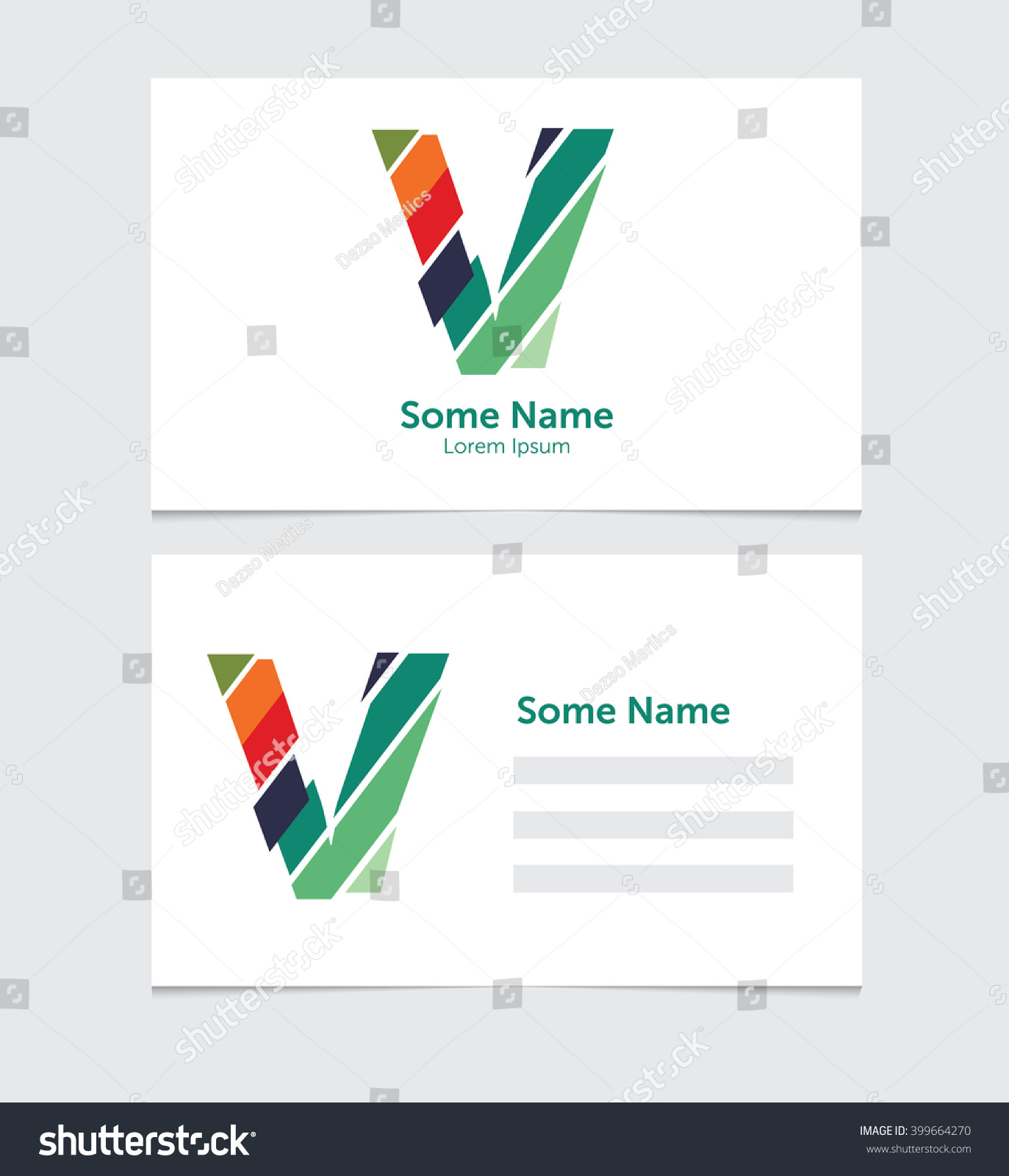 Editable Business Card Template Illustration Vector Stock Vector ...