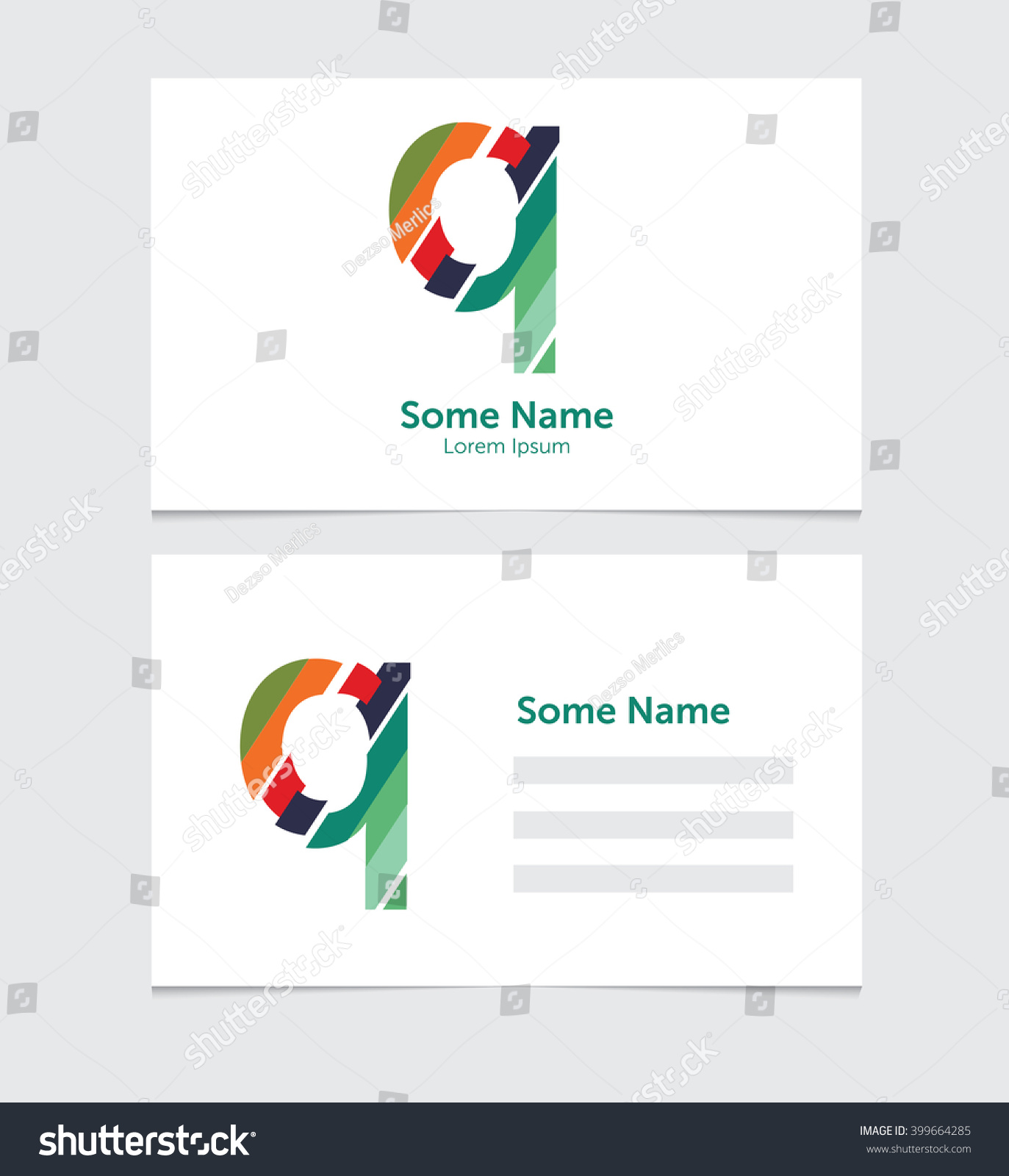 Editable business card template illustration vector stock vector hd editable business card template with illustration of vector q letter logo flashek Gallery
