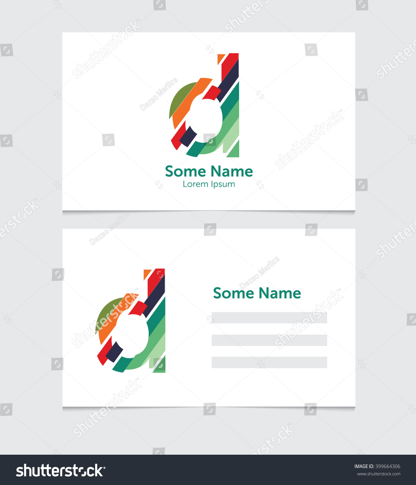 Editable Business Card Template Illustration Vector Stock Vector ...