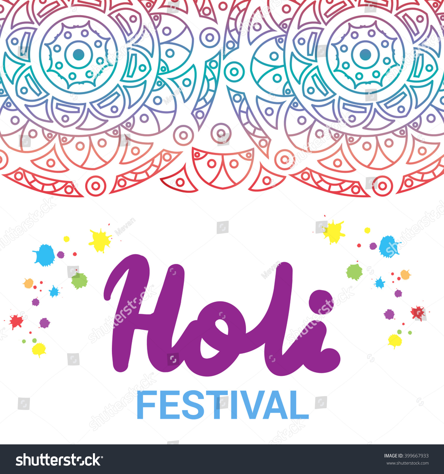 Indian Festival Colours Happy Holi Celebration Stock Vector ...