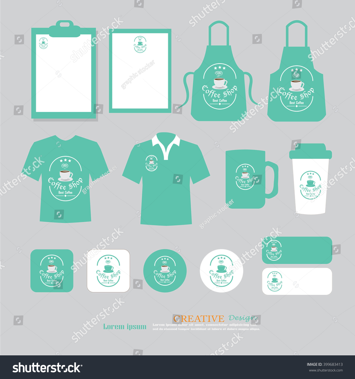 Shirt uniform design vector - Vector Restaurant Cafe Set Flyer Menu Package T Shirt Uniform Design