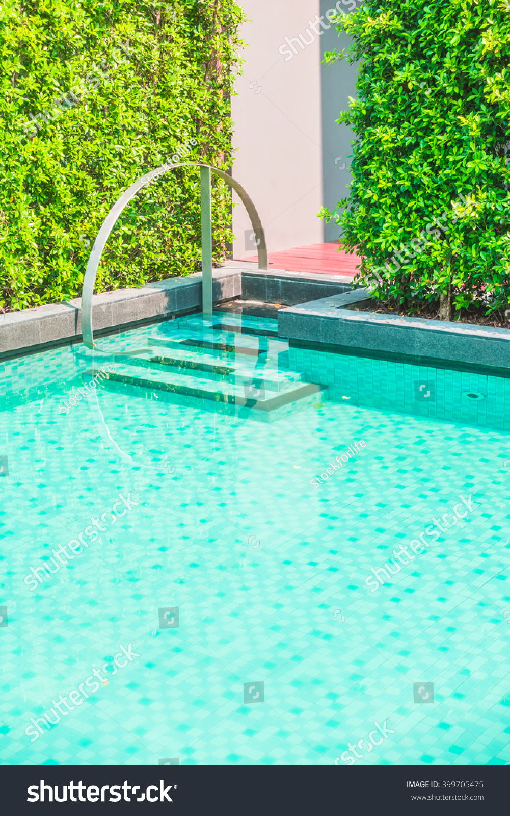 Swimming Pool Effects : Beautiful luxury outdoor swimming pool hotel stock photo