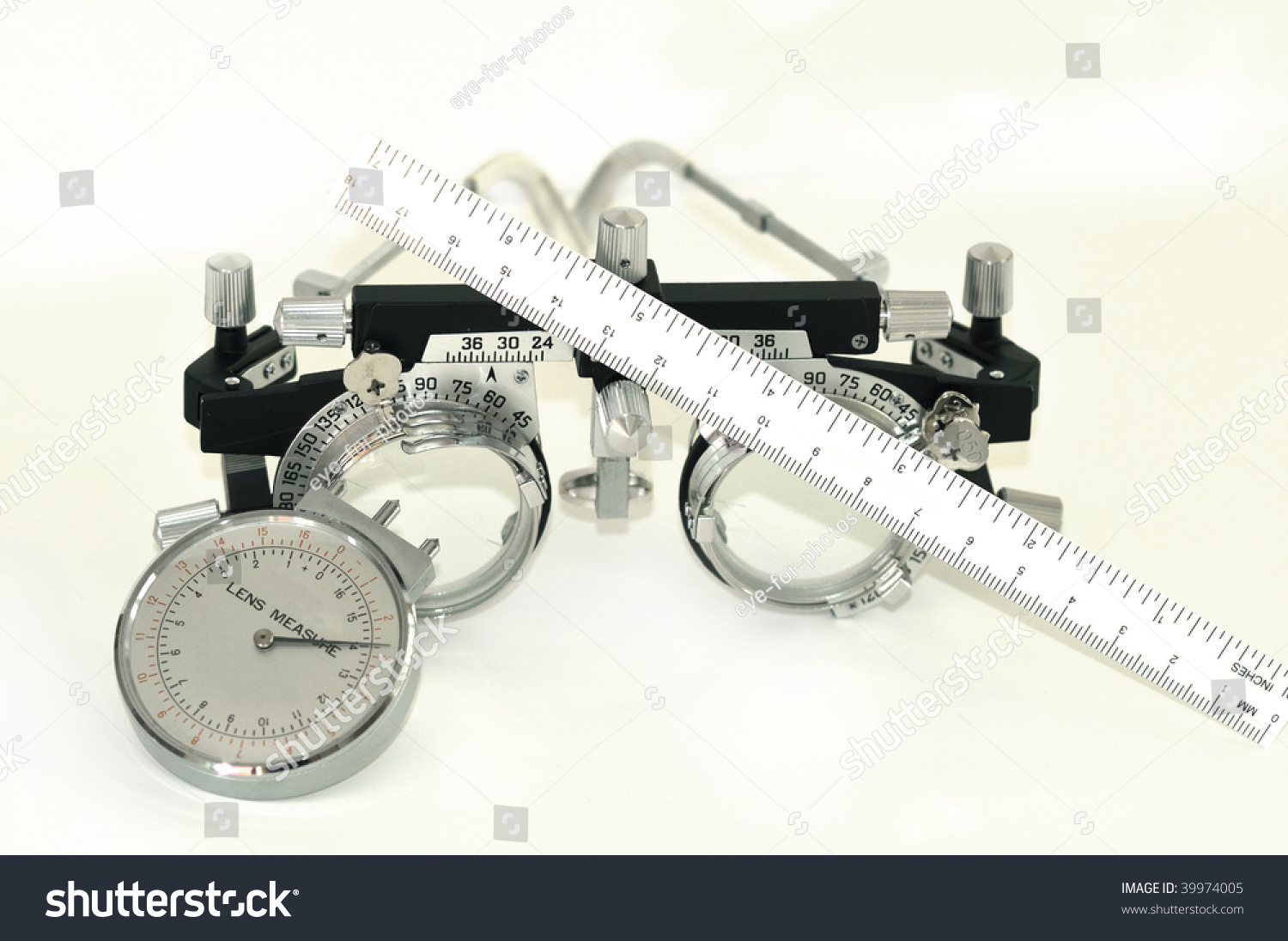 measuring tool trial frame and lens clock optical tools for measuring glasses