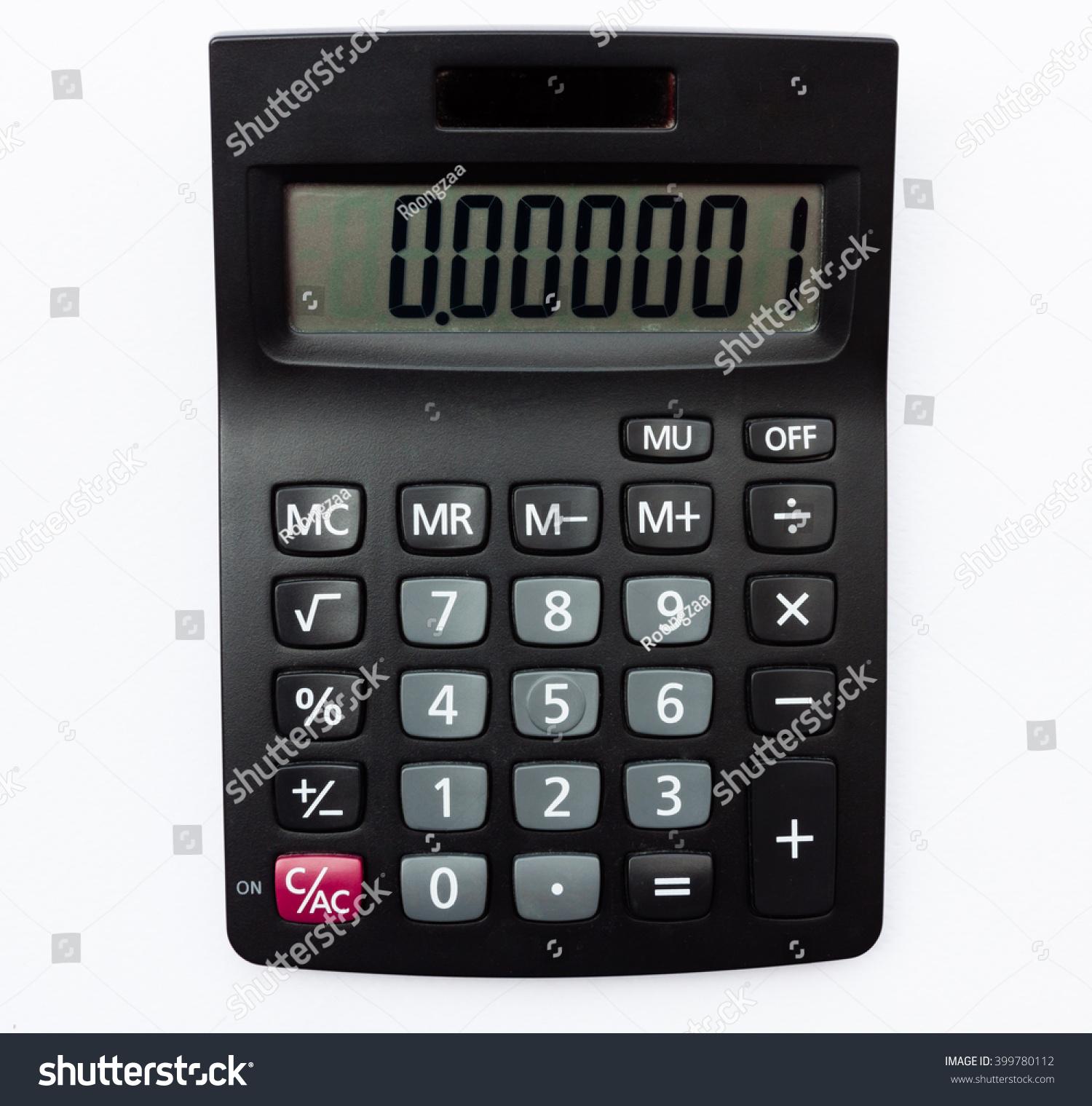 Calculator Calculate Result Part Per Million Stock Photo Edit Now