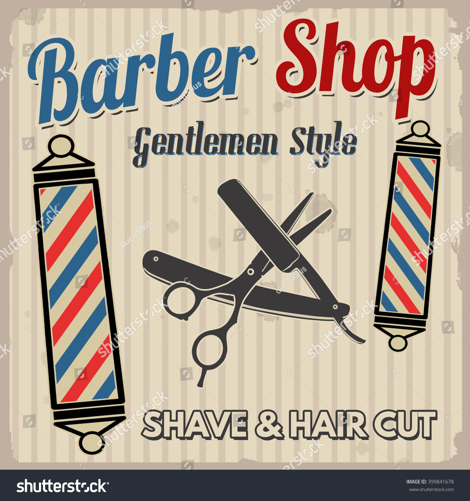 the gallery for gt barbershop classics poster
