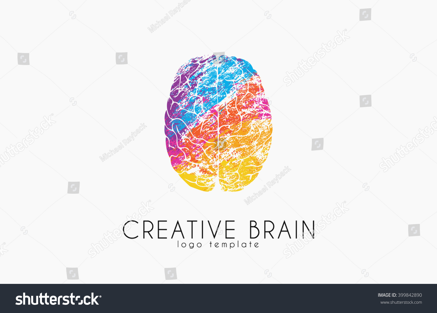 Brain Logo Color Brain Logo Design Stock Vector 399842890 ...