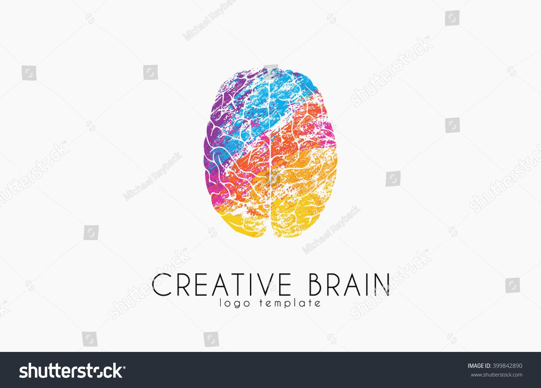 Brain Logo Color Brain Logo Design Stock Vector 399842890 ...