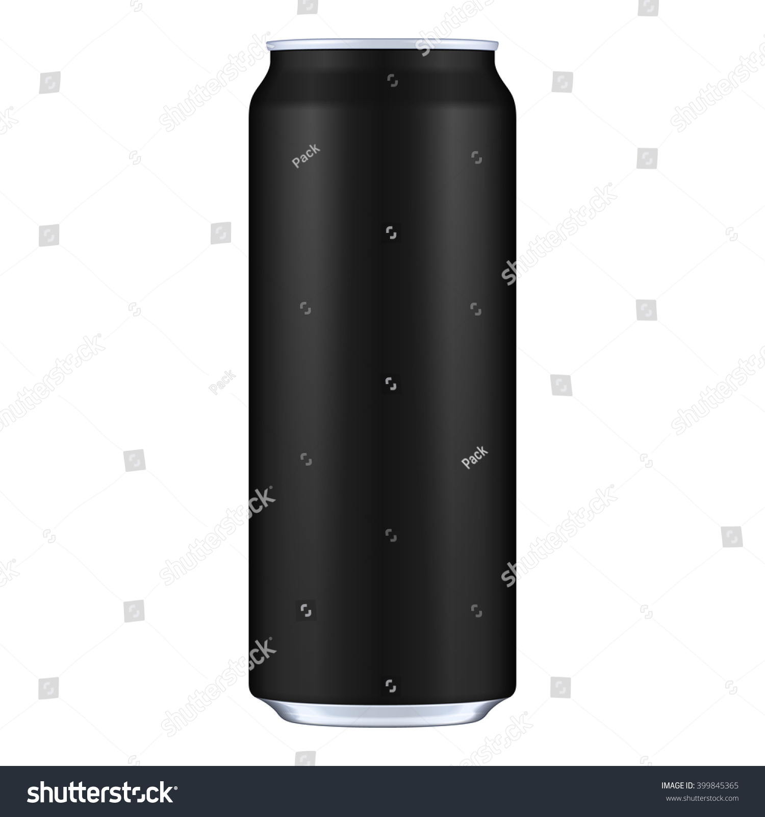 Black Metal Aluminum Beverage Drink Can Vector de stock (libre de ...