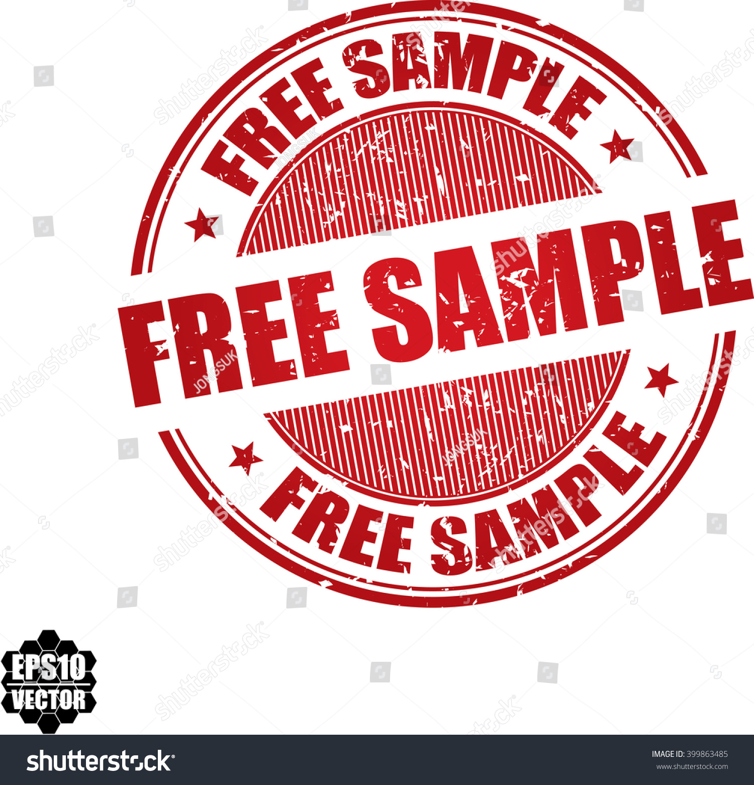Free Sample Grunge Stampvector Stock Vector 399863485 - Shutterstock