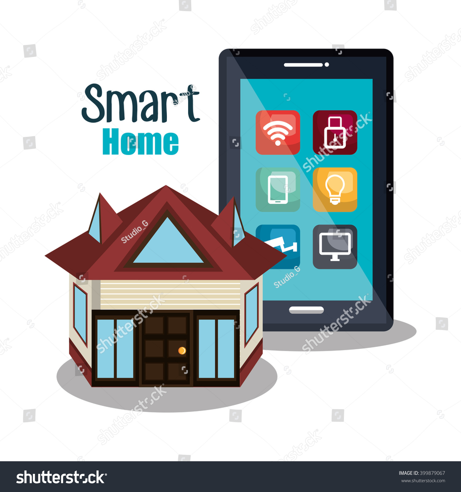 smart home design stock vector 399879067 shutterstock