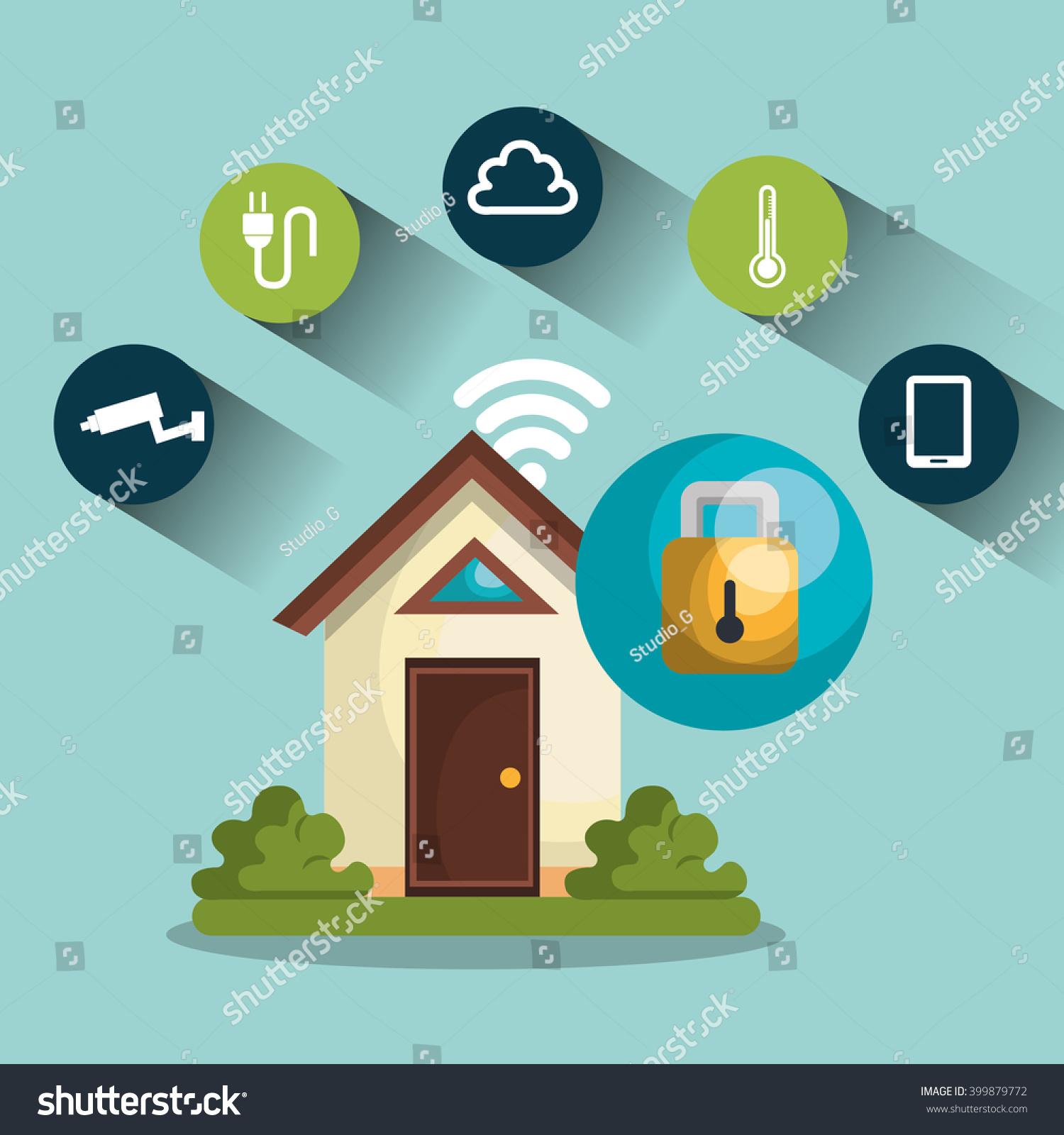 Smart Home Design Stock Vector 399879772 - Shutterstock