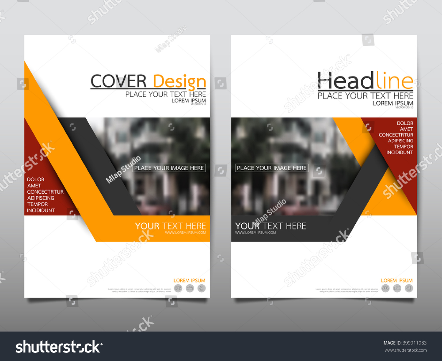 yellow annual report brochure flyer design template vector leaflet