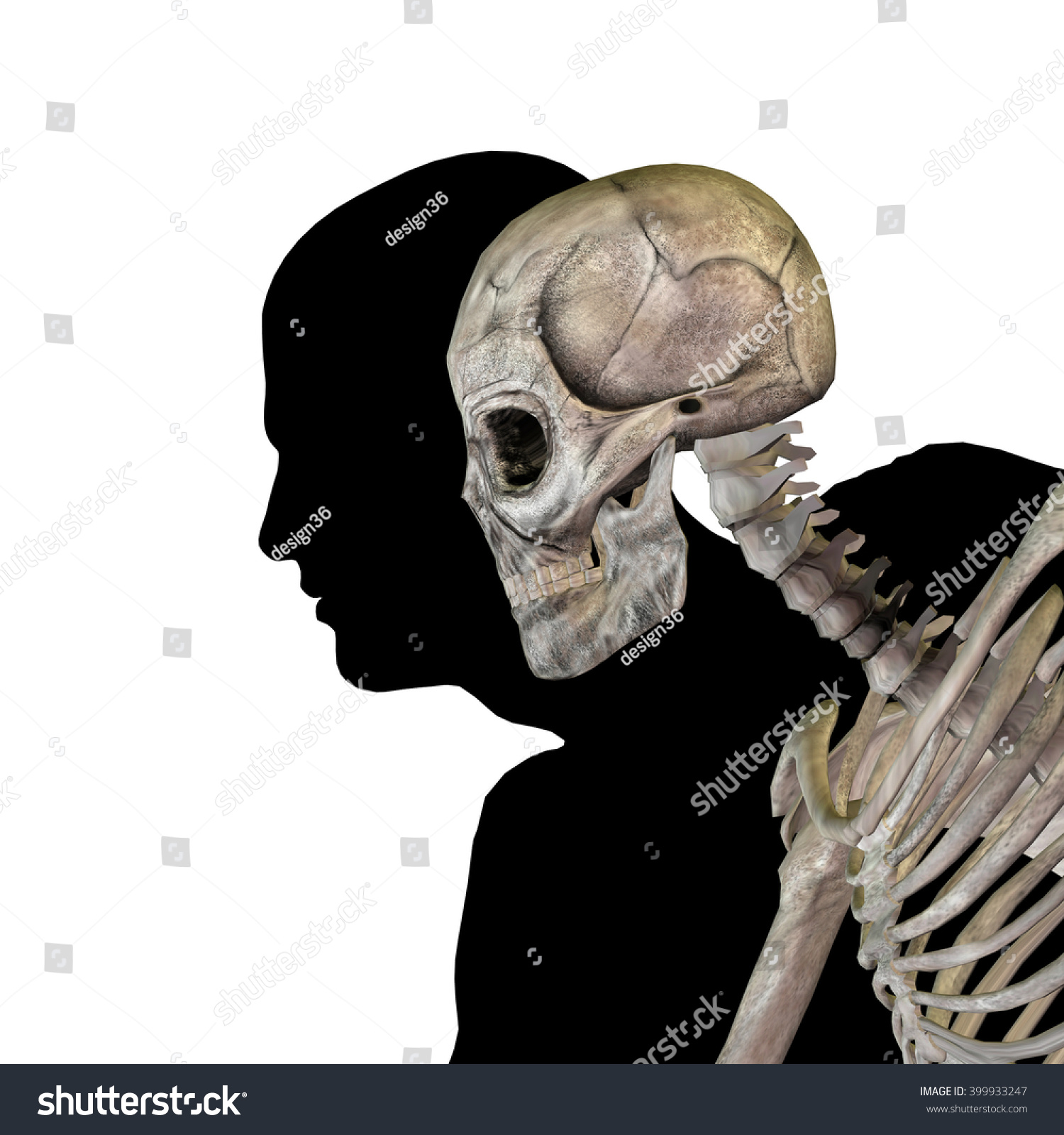 Anatomy Concept Conceptual Human Man Body Stock Illustration