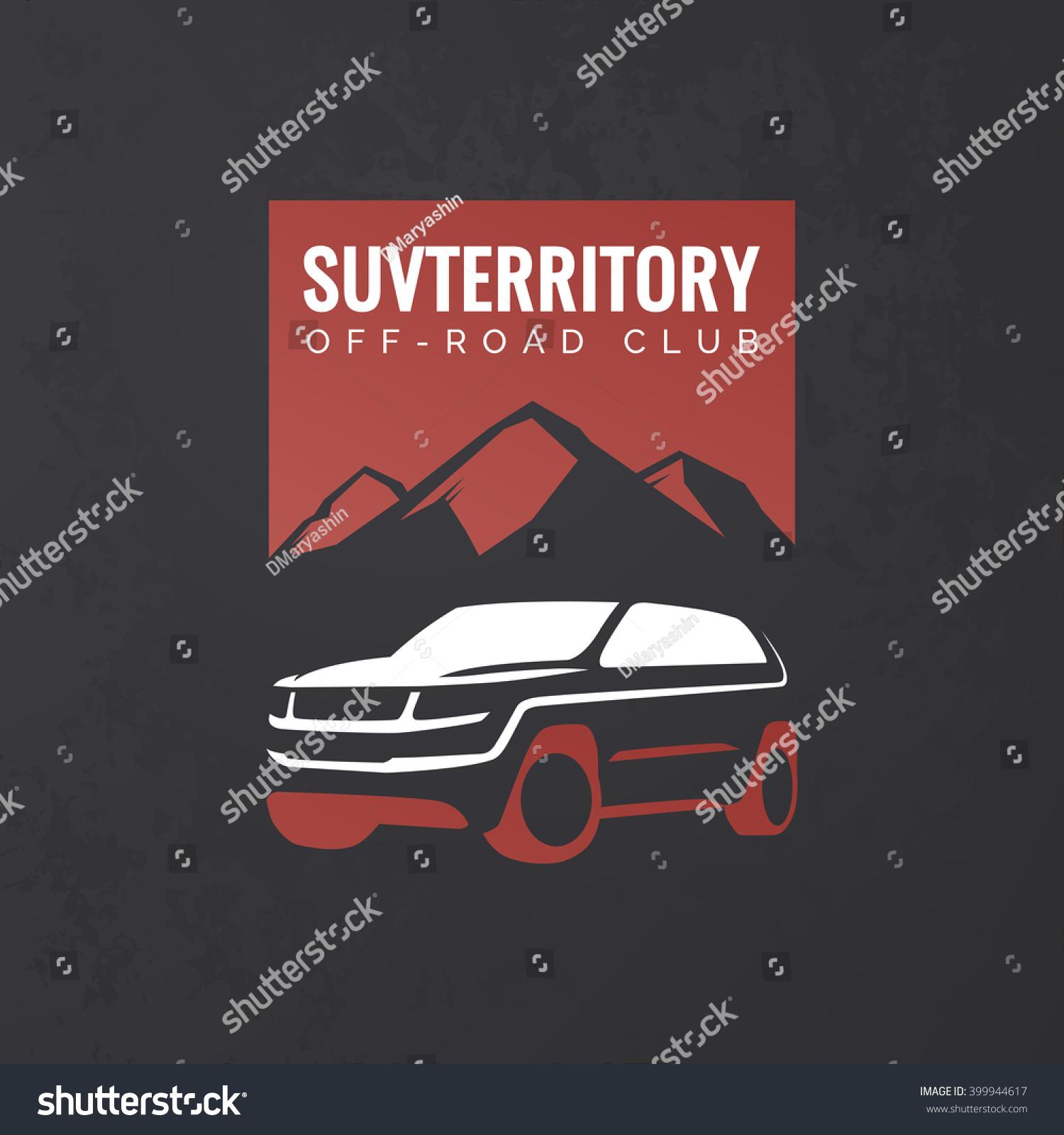 Crossover Suv Car Logo On Grunge Stock Vector Shutterstock