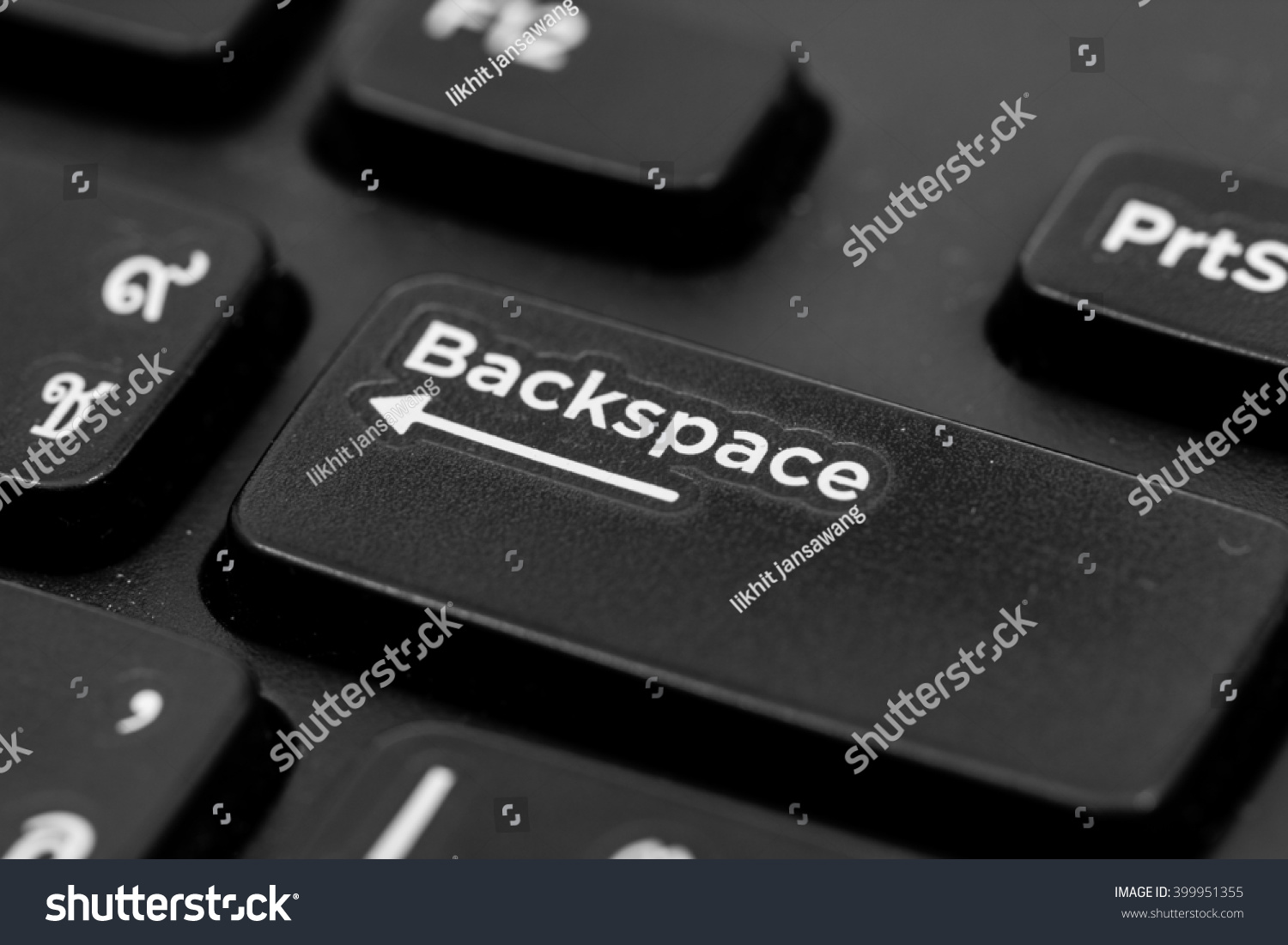 A keyboard with a button Backspace #399951355