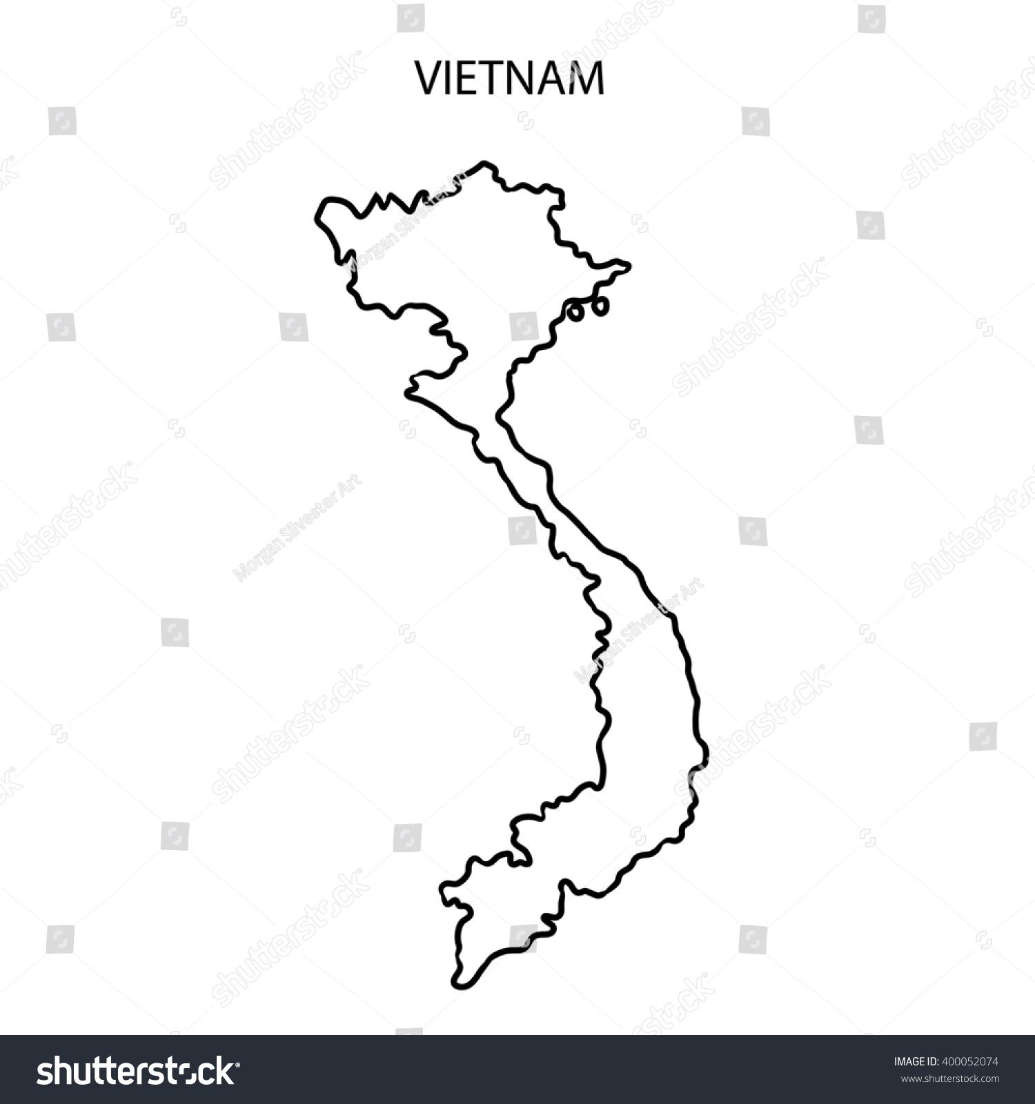 Vietnam Map Outline Stock Illustration Shutterstock - Vietnam map outline
