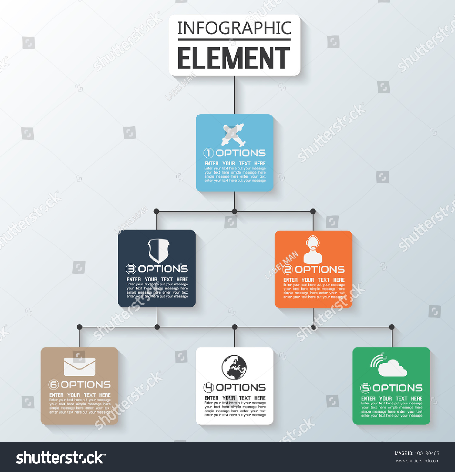 Element Infographic Chart Template Geometric Figure Vector – Element Chart Template