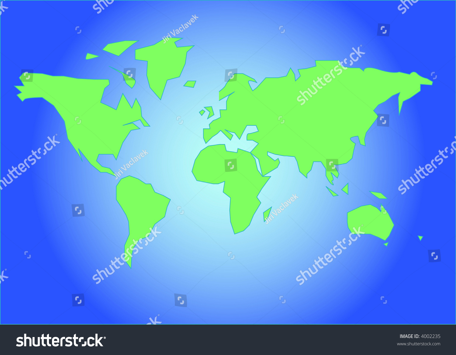 Easy map world stock vector hd royalty free 4002235 shutterstock easy map of world gumiabroncs Images