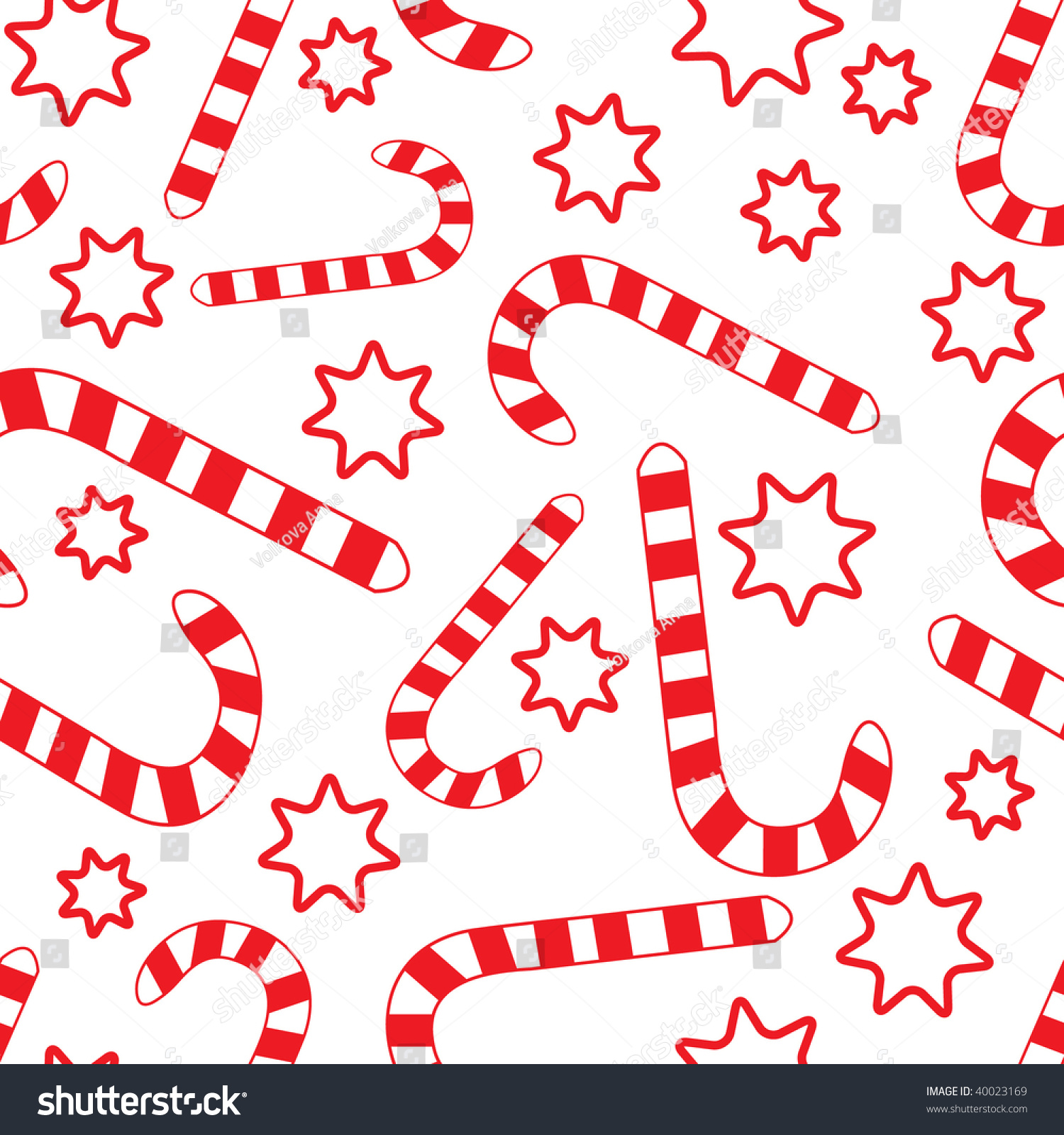Seamless Candy Canes Wallpaper Pattern Vector Illustration
