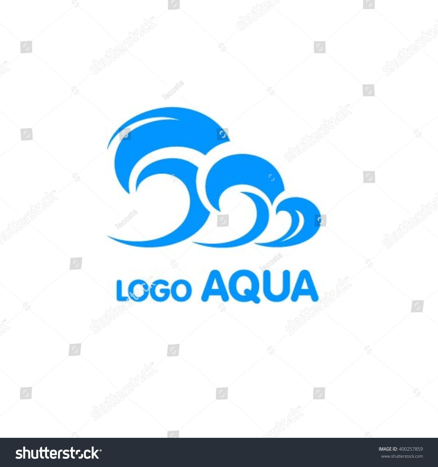 Blue sea wave ocean surf symbol stock vector 400257859 shutterstock blue sea wave of ocean surf symbol for ecology biocorpaavc Choice Image