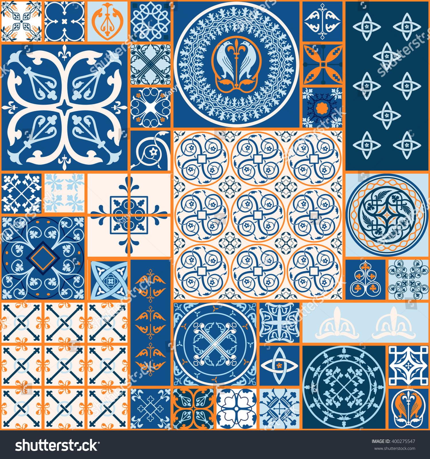 Vector of moroccan tile seamless pattern tile for design tile - Vector Tiles Moroccan Tiles Seamless Pattern Tile For Design Tile Background Spanish Tile