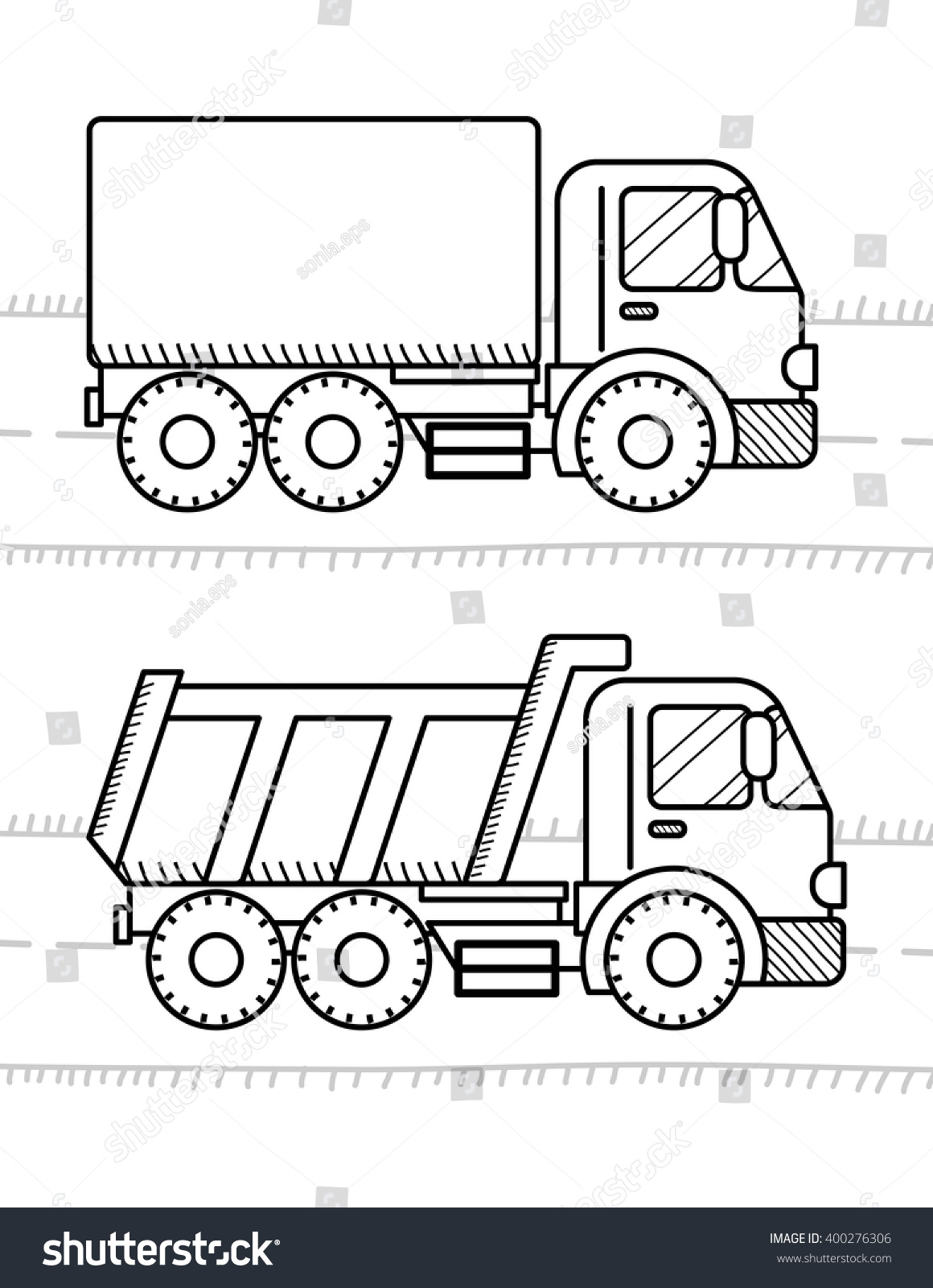 Garbage truck coloring book - Cars Coloring Book For Kids Dump Truck Truck