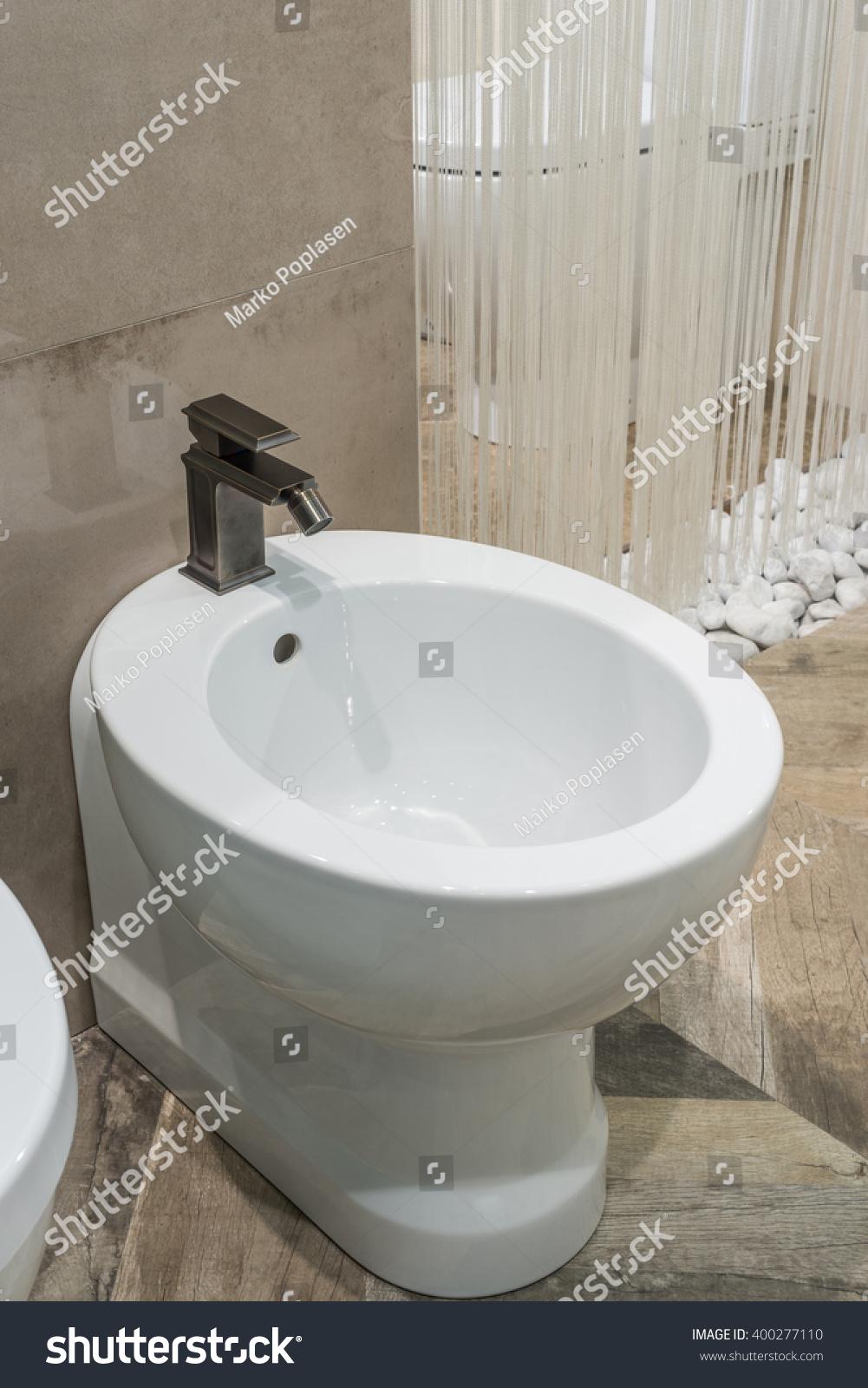 Luxury Bathroom Closeup Watercloset Bidet Stock Photo Edit Now
