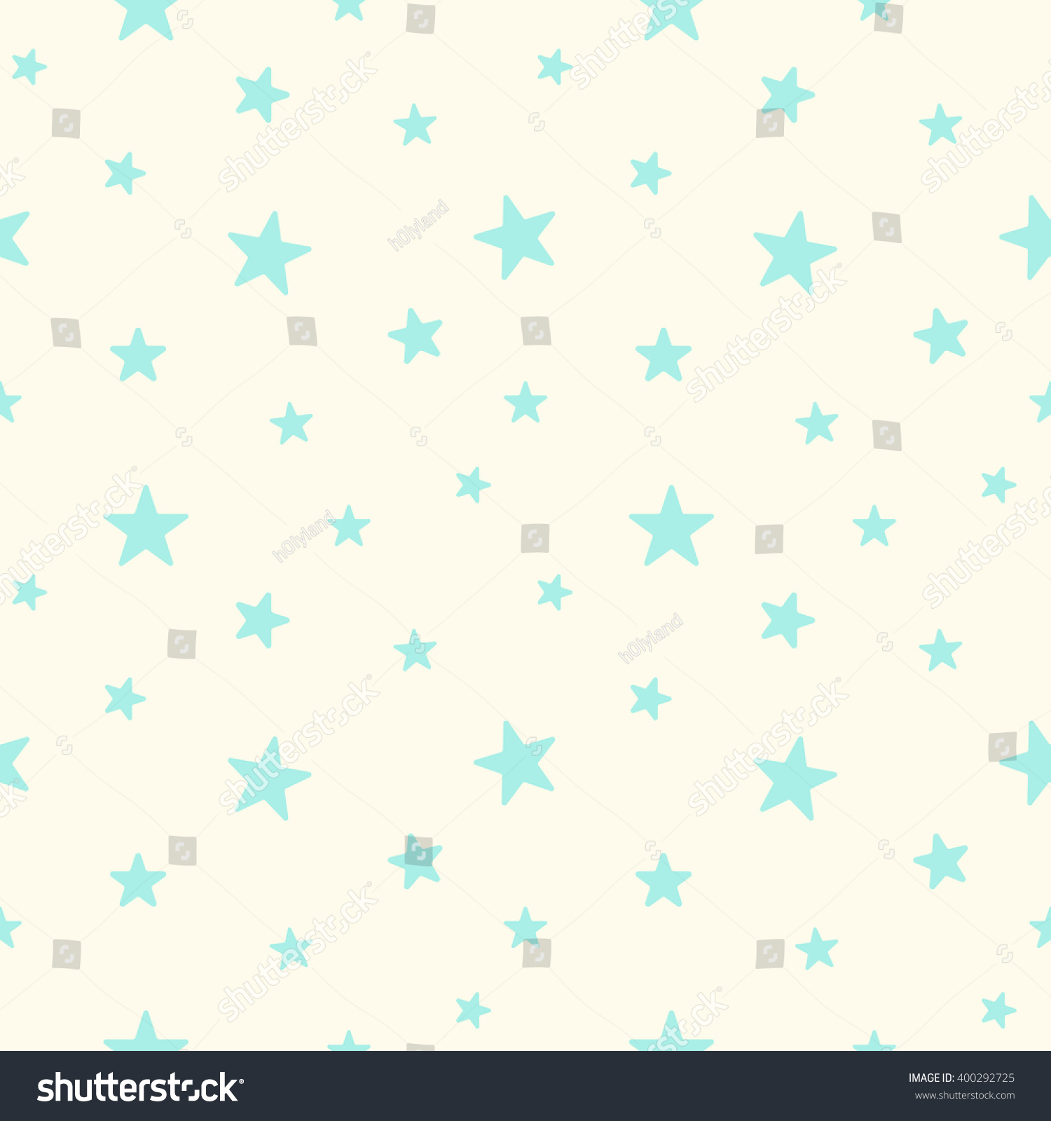 cute blue stars seamless pattern baby stock illustration