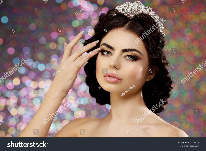 Woman Lux Dress Crown Queen Princess Stock Photo Edit Now