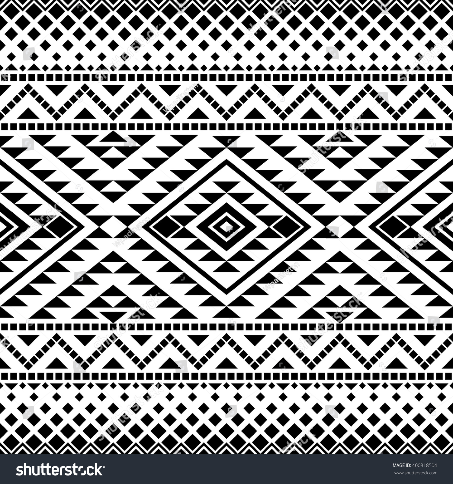 Seamless Pattern Tribal Aztec Motives Aztec Stock Vector