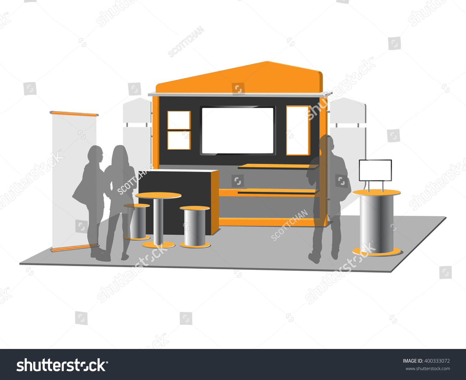 Simple Exhibition Stand Vector : Blank trade exhibition stand vector