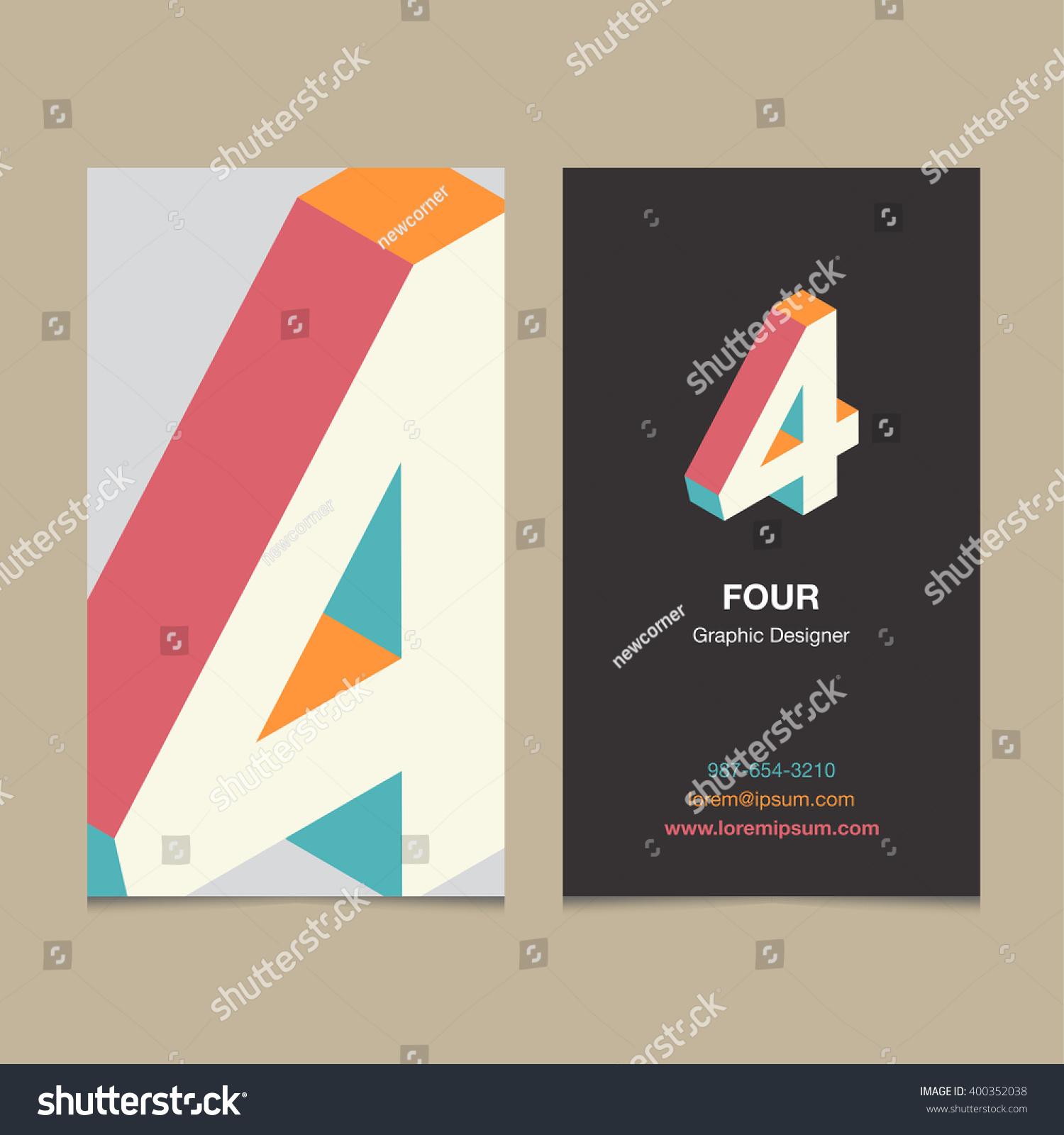Vector graphic design business logo - Logo Number 4 With Business Card Template Vector Graphic Design Elements For